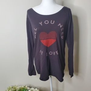 Junk Food all you need is love long sleeve- XL